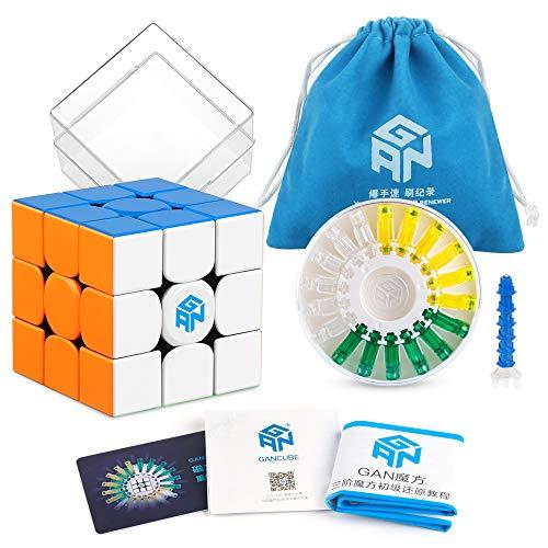 Coogam GAN 356 X Velocidad Cubo 3x3 Sin Etiqueta Gans 356X Cubo Magnético del Rompecabezas 3x3x3 Cubo Mágico Sin Pegatina (Versión IPG V5)