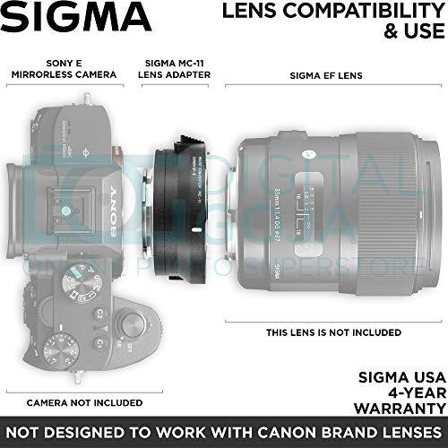 Sigma MC-11 Mount Converter Lens Adapter (Sigma EF-Mount Lenses to Sony E Cameras) with Altura Photo Essential Accessory Bundle