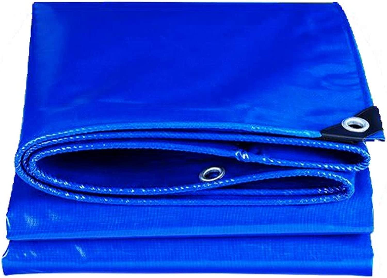 ZX タープ 肥厚 防雨 ターポリン 三輪車 防水 日焼け止め布 ナイフスクレイピング 布 テント アウトドア (Color : 青, Size : 8x10m)