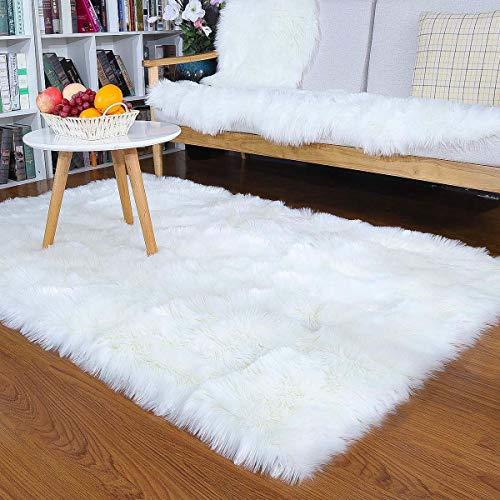 XIGG Super zacht pluizig tapijt, pluizig imitatiebont sjaal tapijt, moderne binnen pluizige tapijten extra zacht en Comfy woonkamer zachte Touch dikke stapel woonkamer gebied tapijten