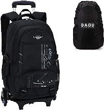 Gift Raincover Boys Trolley Schoolbag Rolling Laptop Wheeled Backpacks with Wheels Travel Gym Bag Rucksack Waterproof Black