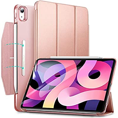 ESR Trifold Case Compatible with iPad Air 4 2020 10.9 inch [Trifold Smart Case] [Stand Case with Clasp] Ascend Series,Rose Gold