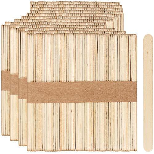 COM-FOUR® 600x ijsstokjes voor cakepops, lollies en ijs - kleine houten stokjes voor handwerk - ijsstokjes voor doe-het-zelf, 11 x 1 cm (600 stuks)