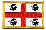 Flaggen Aufnäher Italien Sardinien Fahne Patch + gratis