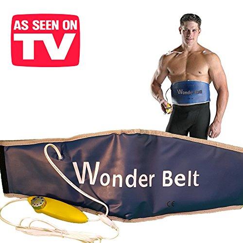 Wonder Belt - L'esclusiva cintura dimagrante elettrica con funzione sauna - Ideale per addominali, pancia, braccia e gambe! fascia pro snellente con sistema riscaldante addominale modellante