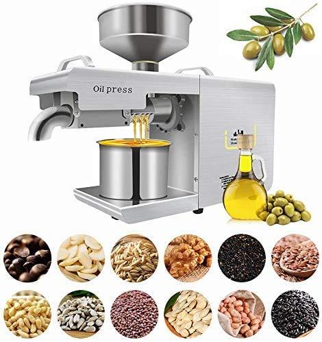 InLoveArts Presse Automatique à Huile d'olive de graines de Noix Presse à Huile de Cuisine Machine à Noix de Coco, Avocat à la Noix de Coco Lin, arachide, ricin,Presse à Noix 220V 635W