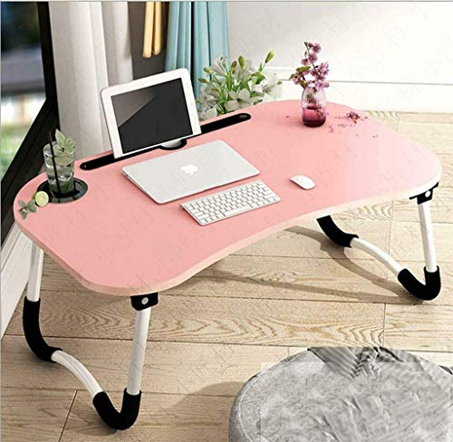 Foldable Laptop Bed Table Lap Desk Stand, Serving Tray Dining Table with Cup Holder, Notebook Stand Holder, Bed Tray Laptop Desk for Eating Breakfast, Working, Watching Movie on Bed/Couch/Sofa/Floor