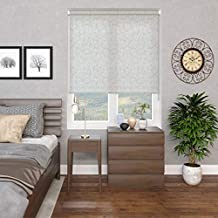 Blinds2Curtains Polyester White 100 cm x 100 cm Andrea Floral Roller Blind