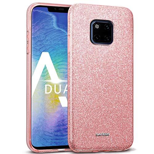 Verco Cover per Huawei Mate 20 Pro Case, motivo glitter per Huawei Mate 20 Pro, in silicone TPU, rosa