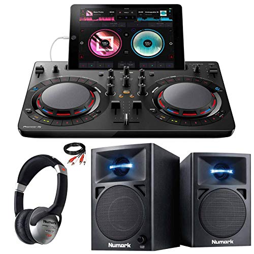 Big Save! Pioneer DDJ-WeGO4-W DJ Software Controller (Black) + Monitors + Headphones
