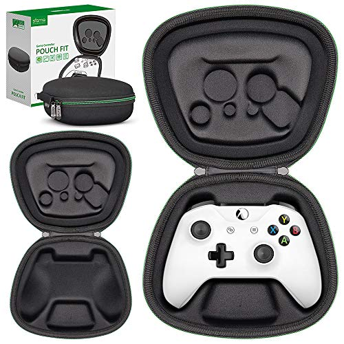 sisma Game Controller Holder Case for Official Xbox One X or One S Wireless Controller, Heavy Duty Protective Cover Hard Shell Pouch Fit - Black