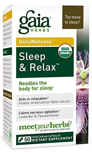 GAIA HERBS Organic Sleep and Relax Liquid Caps, 50 CT