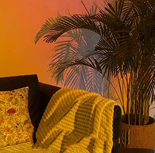 GOLOFEA Lámpara de Puesta del Sol de la luz de la Puesta de Sol Lámpara de proyector USB Puesta de Sol, lámpara de proyector, iluminación de Humor Visual romántico