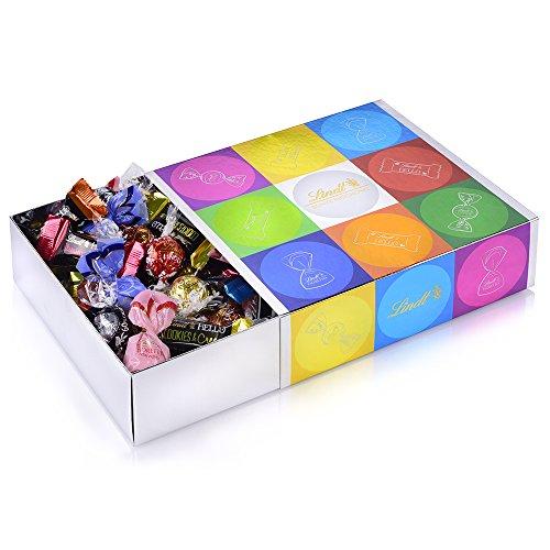 Lindt Bunte Mischung (37 LINDOR Kugeln, 24 Hello Mini Sticks, 10 Mini Fioretto), ideales Schokoladen-Geschenk für Freunde und Familie, (1 x 815 g)