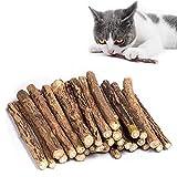 Juego de 30 palitos de hierba gatera para gato, palitos para masticar gato, juguetes de hierba gatera para gato, matatabi natural orgánico