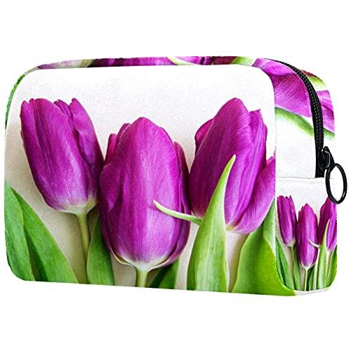 Sacchetto di trucco cosmetico sacchetto di viaggio organizzatore toilette frizione pianta cactus con fiore 18.5x7.5x13cm, 14, 18.5x7.5x13cm,