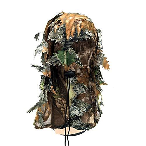 LSB-Hunting® Cagoule 3D Camouflage Masque intégral pour jeux de guerre Cyclisme Chasse Armée Vélo Casque militaire Doublure tactique Airsoft