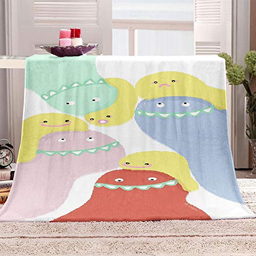 Blankets Cartoon Cute Animal Super Soft Flannel Fleece Blanket Large Fluffy Warm Bed Sofa Throw for Bedroom, Couch, Travel, Kids, Bedroom, 130x150cm