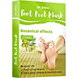 Foot Mask 2 Pairs - Exfoliating Sock Foot Mask - Foot Peel - Foot Peel Cuticle Remover - Foot Mask for Peeling Away Calluses and Dead Skin Cells Get Smooth feet in 7 Days Make Your Feet Baby Soft