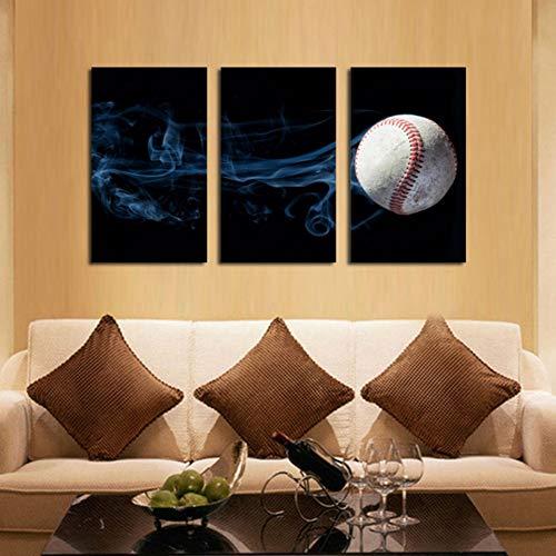GYSS 3 panelen Canvas Schilderen Muur Art Home Decor 3 Stuks Sport Tennis Bal Abstract Rook Voor Woonkamer Moderne Hd