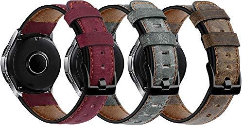 Simpleas Correa de Reloj Piel Compatible con Garmin Vivoactive 4 (45MM) / Legacy Saga Darth Vader (45MM) / Legacy Hero First Avenger (45MM), Correa/Banda/Pulsera/Strap (22mm, 3PCS G)