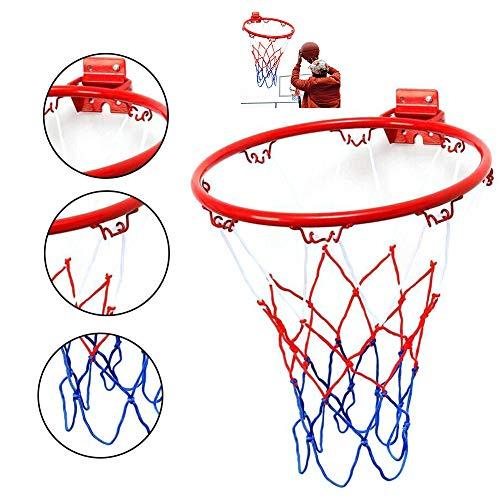 Yajun Basketballkorb Indoor Outdoor Sports 32cm Stahl Hängender Faltendes Design Mit Schrauben Kinder Adult Family Garden Game