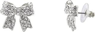 Pave Crystal Simple Delecate Bow Stud Earrings Women's Kids & Girls.