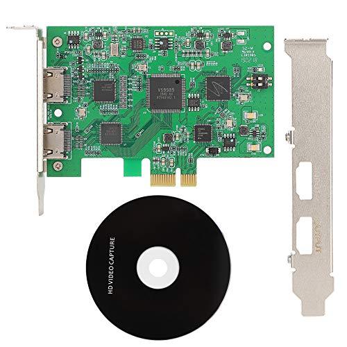 Cuifati Tarjeta de Video, 1920X1080P60Fps Herramientas de Tarjeta de adquisición de Video HD de Calidad de Ultra Alta definición adecuadas para la función de Audio y Video HD