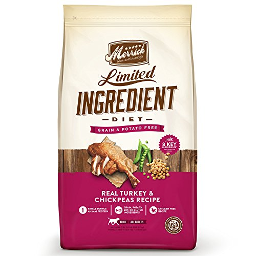 Merrick Dry Dog Food with Vitamins & Minerals for All Breeds , 4 lb, Turkey