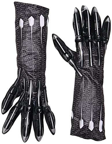 Rubie's Men's Deluxe Black Panther Gloves/Claws Costume Accessory, As Shown, One Size US