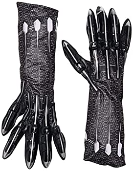 Rubie s Men s Deluxe Black Panther Gloves/Claws Costume Accessory As Shown One Size US