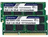Timetec Hynix IC 16GB KIT(2x8GB) DDR3 1333MHz PC3-10600 Non-ECC Unbuffered 1.5V CL9 2Rx8 Dual Rank 204 Pin SODIMM Laptop Notebook Computer Memory Ram Module Upgrade(16GB KIT(2x8GB))