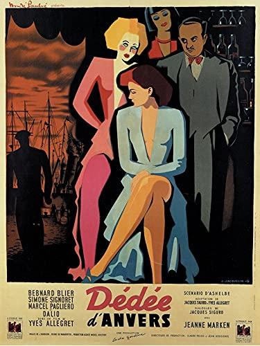 Dedee D Anvers French 1947 c3249 MAXI Poster - Papier photo épais brillant (24/36 inch)(61/91.5 cm) - Décoration mur murale Art Cadeau Anime Auto Cinema Room Décoration murale
