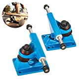 Tera 2Pcs of 3.25' Skateboard Trucks Anchor Shape Aluminum-magnesium Alloy for 22' Mini Skateboard Penny Board Blue