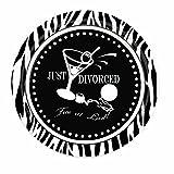 Scheidung Party Platten, nur Geschiedene, frei in letzten Zebra 17,8cm Vorspeise Teller (8)
