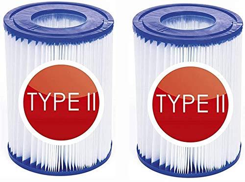 2 Stück Filterpatronen für Pool,für für Bestway Filter Größe 2, Poolreinigungsfilter Zubehör,Filterkartuschen Kartuschenfilter Papier zur Dekontamination und Wasseraufbereitung.