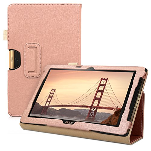 kwmobile Acer Iconia One 10 (B3-A40) Hülle - Tablet Cover Case Schutzhülle für Acer Iconia One 10 (B3-A40) - Rosegold mit Ständer