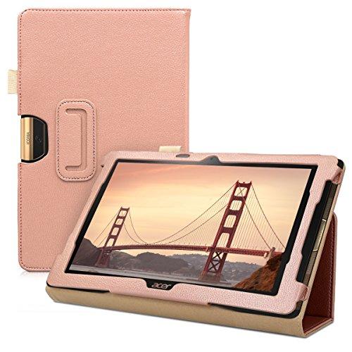 kwmobile Hülle kompatibel mit Acer Iconia One 10 (B3-A40) - Slim Tablet Cover Hülle Schutzhülle mit Ständer Rosegold