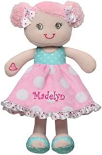 Hearts and Bows Snuggle Doll - 11 Inch (Personalized)