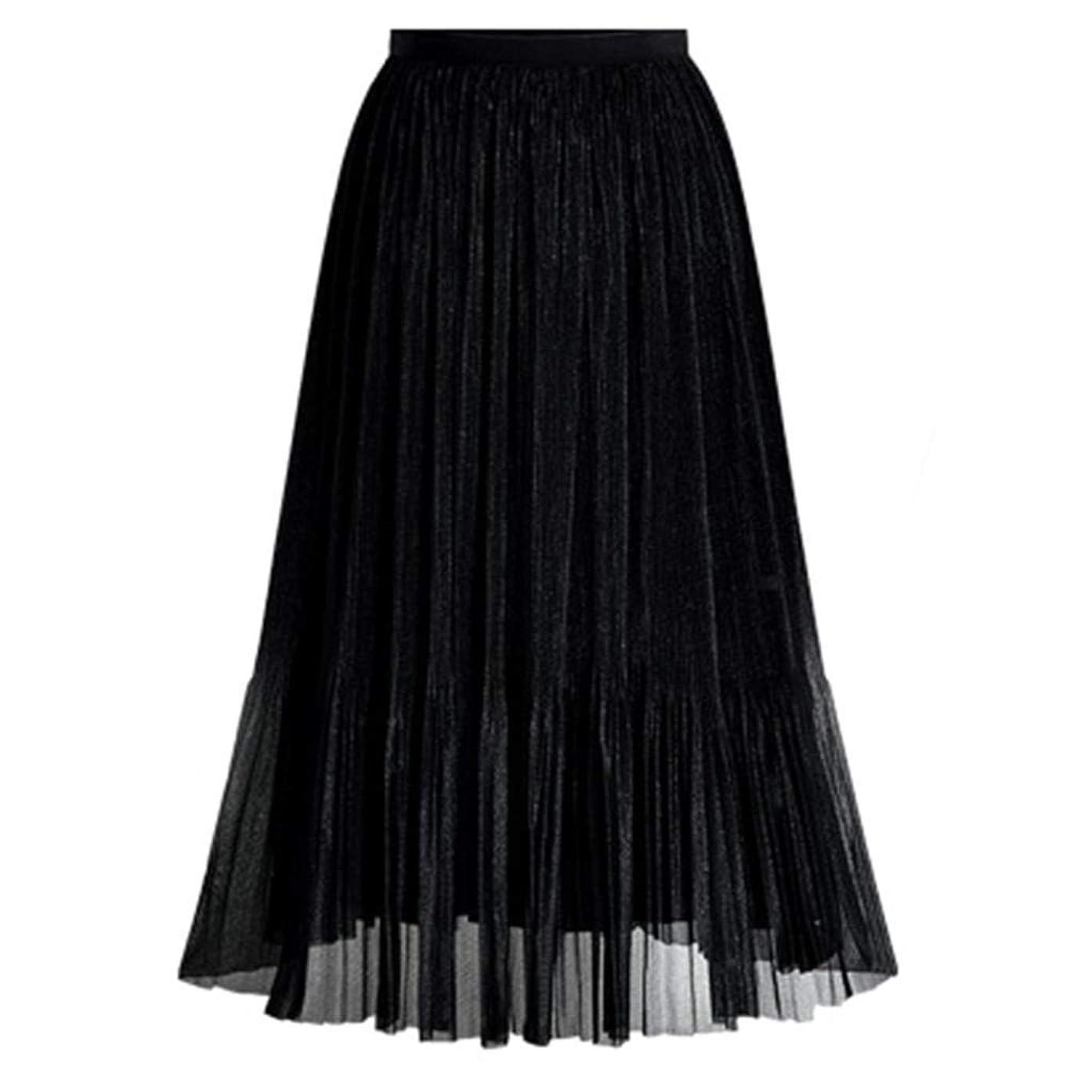 〓COOlCCI〓Women's Vintage Elastic Waist A-Line Long Midi Skirt Retro Long Maxi Skirt Vintage Dress Floor Length Skirt