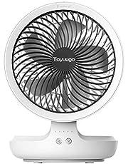 USB扇風機 Toyuugo 自動首振りミニ扇風機 卓上 USBファン 静音 4段階風量 小型 呼吸ランプ USB充電式 パワフル 多機能扇風機 折り せんぷうき ホワイト