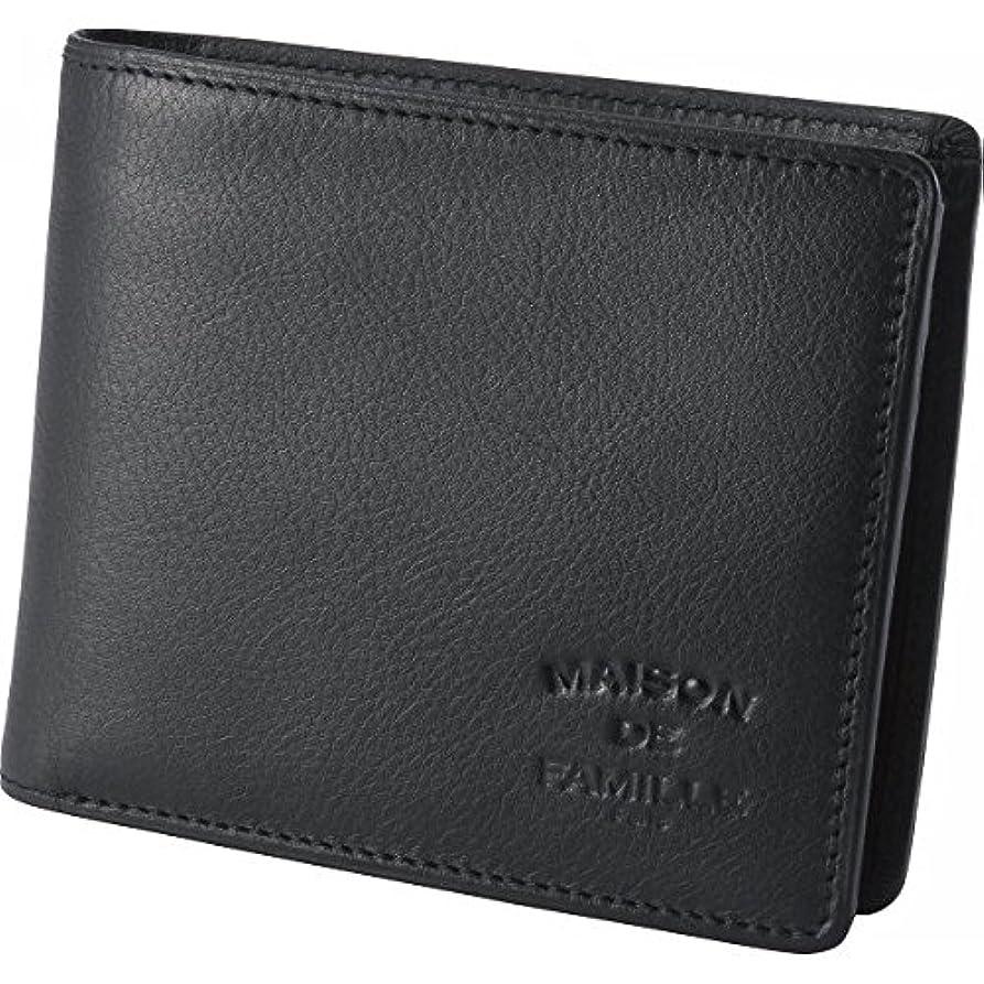 鷲動物スチールnobrand メゾン?ドゥ?ファミーユ 財布 二つ折り財布(小銭入れ付) ブラック(YF-3001)