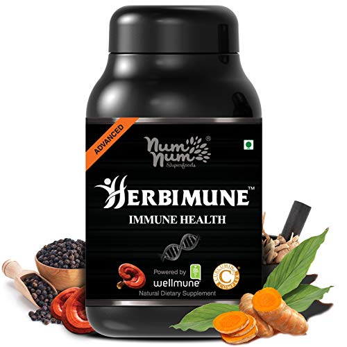 Immune Health Booster Powered by Reishi Mushroom Extract Curcumin C3...