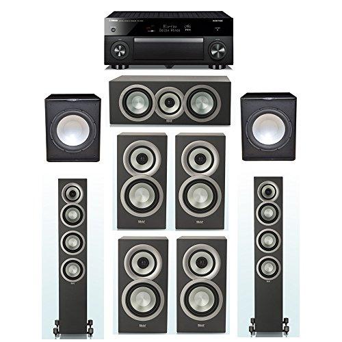 Buy ELAC Uni-Fi Slim Black 7.2 System with 2 ELAC FS-U5 Floorstanding Speakers, 1 ELAC CC-U5 Center ...