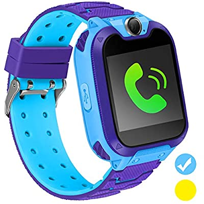 Kids Smart Watch for Kids SmartWatch with 1.54 Inch IPX5 Waterproof Color HD Display Touch Screen Digital Camera Game Music Learning Toys Call Watch 3-12 Ages Boy Girl Best Birthday Gift by GUANLV