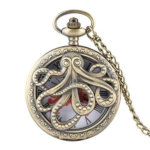 GUOJIAYI Reloj de bolsillo de cuarzo reloj collar de los hombres señoras reloj regalo niños