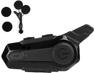 Yinuoday Motorfiets Waterdichte Oortelefoon Motorfiets Bluetooth Headset met Haak en Loop Microfoon voor Motorrijder Draad...