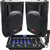 Best Dj Systems - DJ System - 2400 Watts - Powered Speakers Review