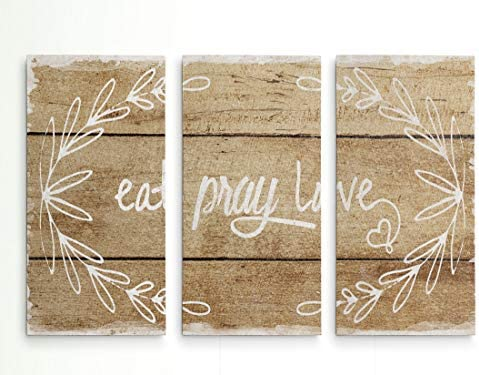 Renditions Gallery Canvas Prints Wall Art Eat Pray Love Gallery Wrapped Inspirational Modern product image