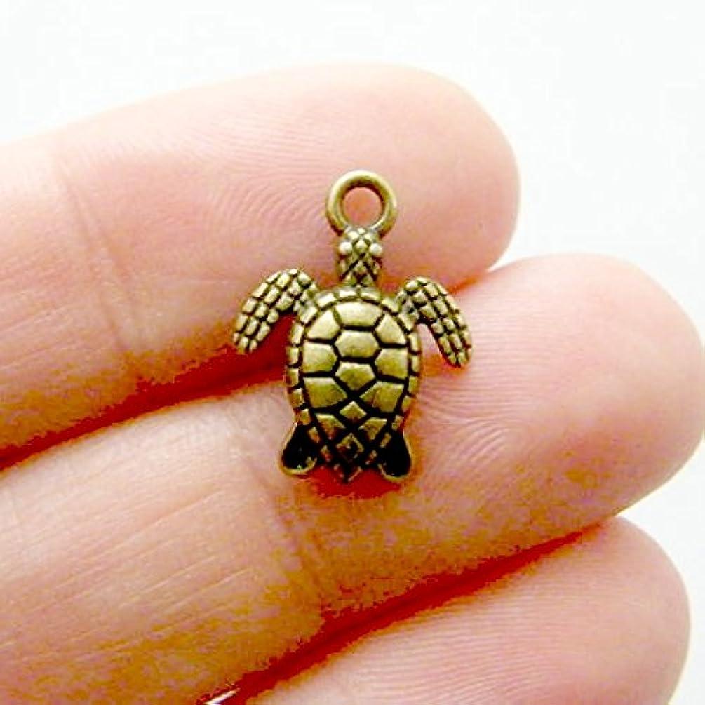 14 pcs Bronze Turtle Charm 16x13mm (CB128)